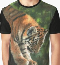 Tiger Cub in Tree Graphic T-Shirt