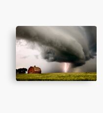 Prairie Storm Clouds lightning storm Canvas Print