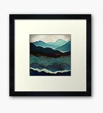 Indigo Mountains Framed Print