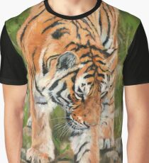 Tiger. Testing The Water Graphic T-Shirt