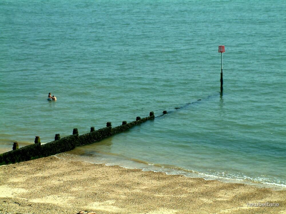 Taking a dip.... Dovercourt, Essex, UK. by newbeltane