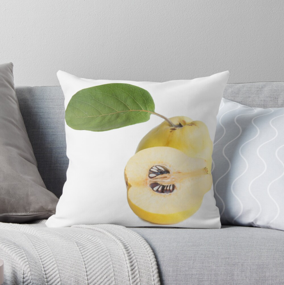 Quince fruits Throw Pillow
