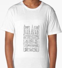 Notre Dame facade illustration. Long T-Shirt