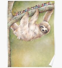 Unexpected Giants - Sloth illustration Poster