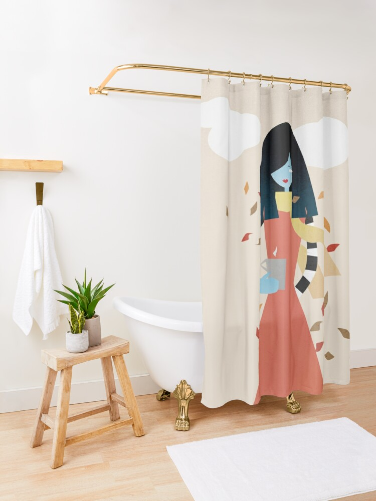 Alternate view of Ready for fall Shower Curtain
