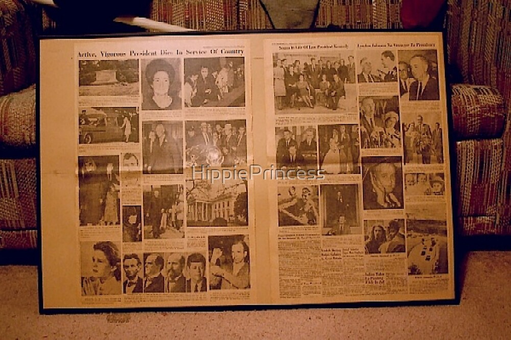 Two Full Pages Of Photos Related To J.F.K by HippiePrincess