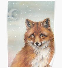 Unexpected Giants- Fox and house watercolour Poster