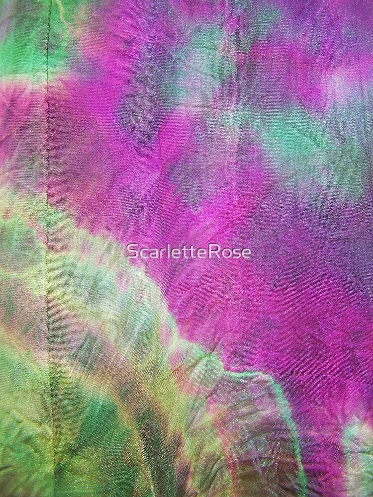 tie dye dress by ScarletteRose