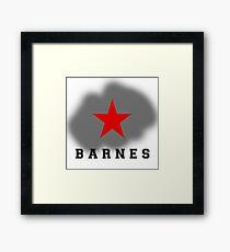BARNES Framed Print