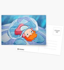Ponyo Peeks From The Bubble - Ghibli Postcards