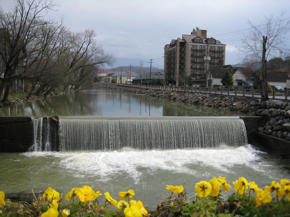Waterfall in Gatlinburg TN by Sammy Jo