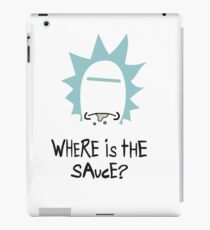 Rick and Morty - Where is the Sauce iPad Case/Skin