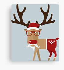 Reindeer Red Nose Canvas Print