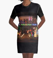 Christmas Lights Graphic T-Shirt Dress