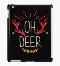 Oh, Deer Funny Christmas iPad Case/Skin