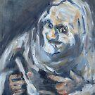 Old Man Essen - Studie nach Goya von Christel  Roelandt