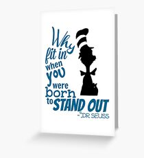quote by dr seuss Greeting Card