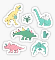 Christmas dinosaurs. Sticker