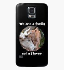"""""""Wir sind eine Familie, kein Geschmack"""" Hülle & Klebefolie für Samsung Galaxy"""