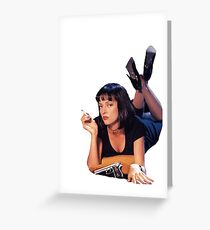 Pulp Fiction Mia Wallace Greeting Card