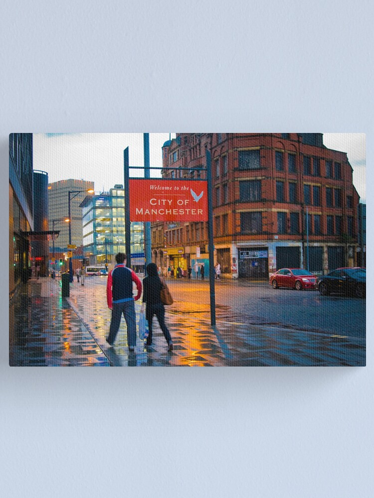 Alternate view of Welcome to Manchester Canvas Print
