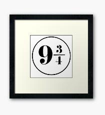 Nine and Three Quarters Framed Print