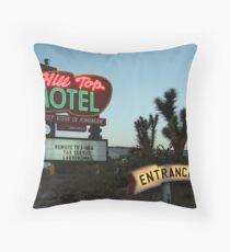 Hill Top Motel Throw Pillow