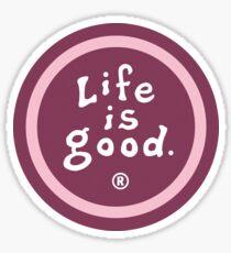 Pink Life Is Good Circle Logo Sticker