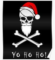 Yo Ho Ho! Funny Pirate Christmas Design Poster