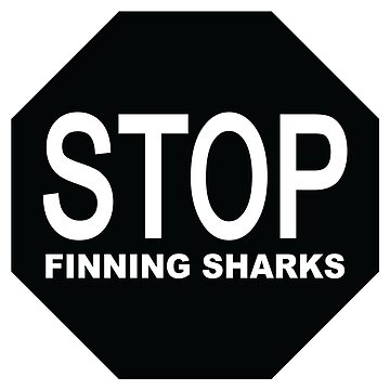 stop finning sharks sign by maydaze