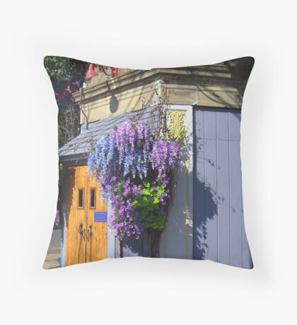 Street corner. Throw Pillow