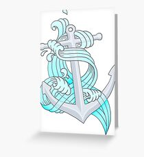 Ocean Wave Anchor Greeting Card