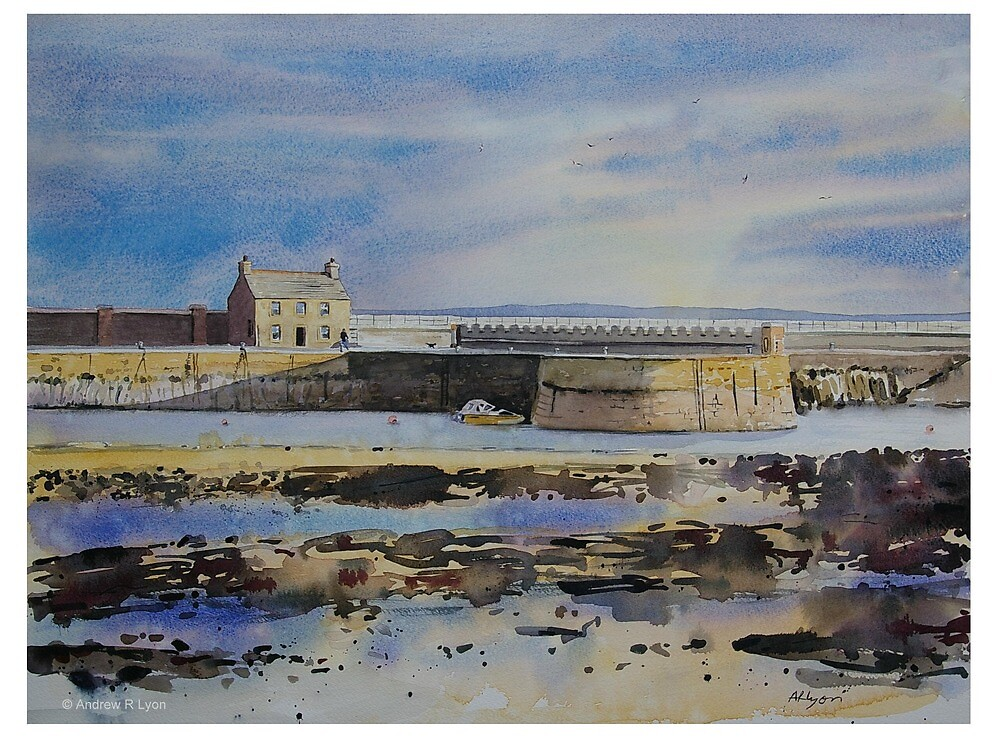 Saltcoats Harbour by Andrew Lyon