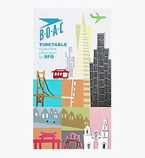 BOAC to San Francisco Photographic Print