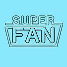 Super Fan - Neon logo (black lines) by tvcream