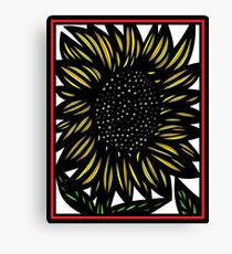 Myrrh Flowers Yellow Red Black Canvas Print