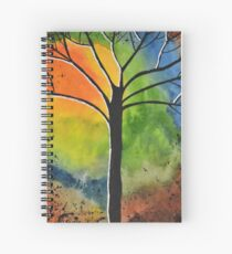 Sun Rise in the West Spiral Notebook