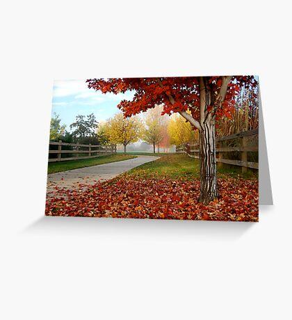 October Color Palette Greeting Card