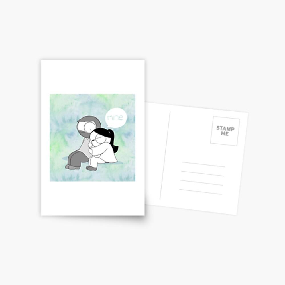 Mine - Watercolor Postcard