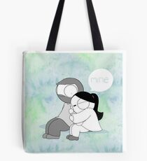 Mine - Watercolor Tote Bag