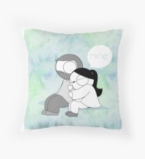 Mine - Watercolor Throw Pillow