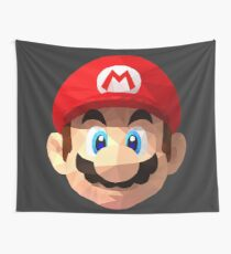 Mario Bros Low Poly (Black Background) Wall Tapestry