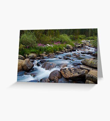 Rock Creek, Eastern Sierra Greeting Card
