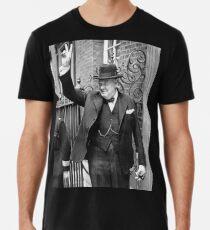 Camiseta premium Winston, Churchill, Primer ministro británico, Signo V, Victoria, 1943, Segunda Guerra Mundial