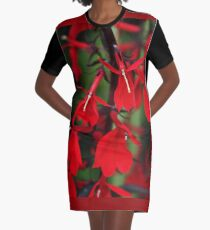 Vision In Red Graphic T-Shirt Dress