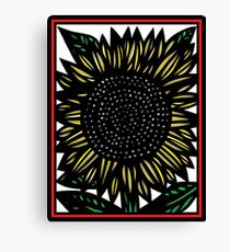 Elision Flowers Yellow Red Black Canvas Print