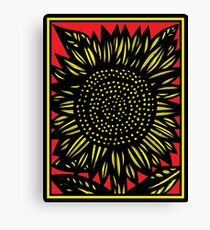 Elation Flowers Yellow Red Black Canvas Print