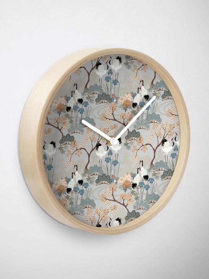 Alternate view of Japanese Garden Gray Clock