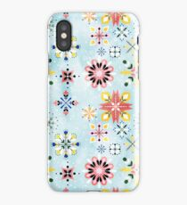 Christmas snowflakes pattern iPhone Case/Skin