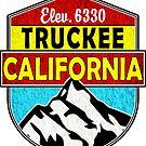 TRUCKEE CALIFORNIA Ski Skiing Snowboarding Snowboard Hiking Hike Mountain Camping by MyHandmadeSigns